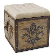 Brown Ottoman Storage Ottomans Living Room Value City Furniture