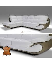 canape d angle 5 places cuir canapé angle contemporain 5 vraies places cuir blanc et taupe