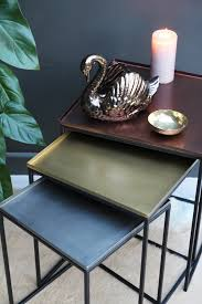square tray for coffee table square tray enamel nesting tables set of 3 copper brass nickel