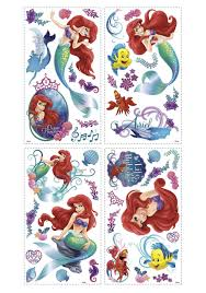wall decals gorgeous little mermaid wall decals little mermaid full image for fun coloring little mermaid wall decals 56 roommates rmk1489gm the little mermaid giant