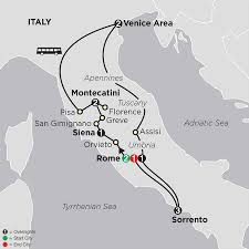 Map Of Italy With Cities by Rome Venice Sorrento Tour U0026 More Cosmos Tours