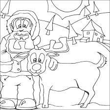 u0026 rudolph colouring