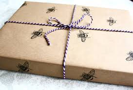brown gift wrapping paper bumble bee wrapping paper gift wrap sheet insect prints