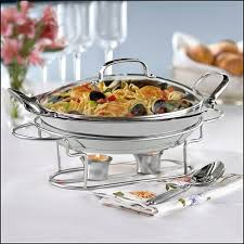 how to set a buffet table with chafing dishes chafing dish with glass lid best buy