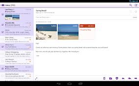 most recent android update yahoo mail for android now has a dedicated tablet ui and it doesn