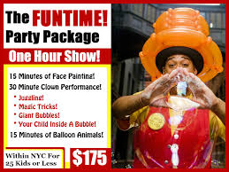 clowns for birthday in ny prices clown4party kid s birthday clown nycprices