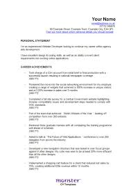 Software Developer Resume Example Ios Developer Resume Resume For Your Job Application