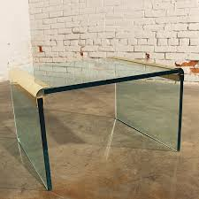 Waterfall Coffee Table Sold Vintage Brass And Glass Waterfall Side Table By The Pace