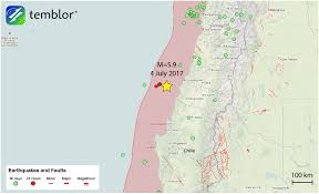 Map Chile Late Aftershock Of 2010 M U003d8 8 Maule Earthquake Strikes Offshore