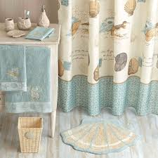 Seashell Home Decor Seashell Shower Curtain That Add Different Accent In Bathroom