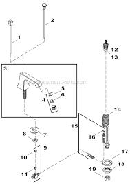 kohler kitchen faucet replacement parts kohler k 454 4s parts list and diagram ereplacementparts