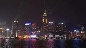 hong kong light show cruise hong kong china circa august 2014 time lapse of hong kong skyline