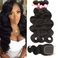 peruvian virgin hair body wave u2013 3 bundles w closure u2013 pure hair