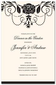 formal invitations medici black floral carnation invitations myexpression 17556