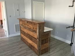 custom made reception desk perfect shape custom made reclaimed barnwood reception desk