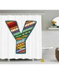 christmas savings on letter y shower curtain alphabet art design