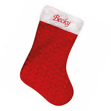 personalised embroidered christmas stockings sacks u0026 hats