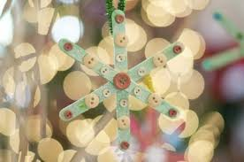 popsicle stick snowflake ornament family crafts