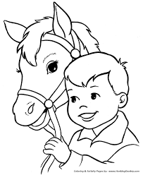 coloring pages happy boy horse coloring pages printable happy boy and his horse coloring