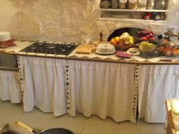 cuisine meuble rideau rideaux de meubles de cuisine en toile de blanc déco