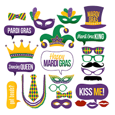 mardi gras ties mardi gras photo booth props collectionprintable instant