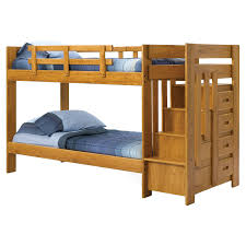 Woodcrest Heartland Twin Over Twin Stairway Bunk Bed Honey - Simply bunk beds