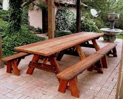 excellent pine octagon picnic table with benches within wooden