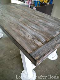 dry brush technique for weathered look bay ledge table