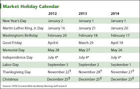 calendar and holidays for 2014