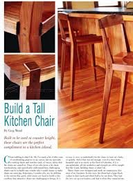 kitchen chair plans u2022 woodarchivist