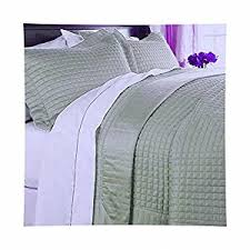 Solid Color Quilts And Coverlets Amazon Com Modern Solid Pattern Style Quilt Coverlet And Sham Set