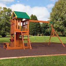 backyard discovery slide oakmont wooden swing set playsets backyard discovery