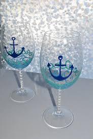 Items Similar To Nautical Anchor - nautical wine glasses by thewinelife on etsy 24 00 the wine