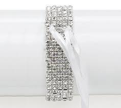 corsage bracelet 75 silver rhinestone corsage bracelet