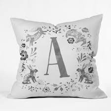 monogram letter folky forest monogram pillow forest store home decor