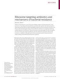 ribosome targeting antibiotics and bacterial resistance mechanisms