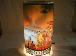 scarce old 1957 goodman oriental asian motion lamp japanese