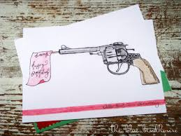 the blue birdhouse birthday cards bicycle u0026 gun