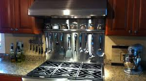 Custom Stainless Steel Spice Rack Riverside Medford MA - Stainless steel backsplash