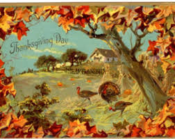 vintage thanksgiving etsy