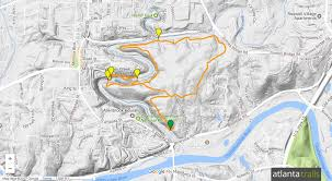 Slippery Rock University Map Vickery Creek Trail Hiking U0026 Running In Roswell