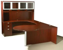U Shaped Reception Desk Of4s Curved Series U Shaped Executive Desk With Hutch 72