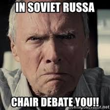 Clint Eastwood Chair Meme - racist clint eastwood meme generator