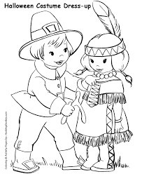 halloween costume coloring pages pilgrim kids halloween costume