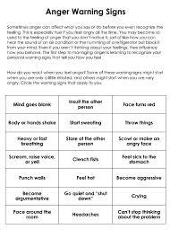 managing anger worksheets anger management skinnurse anger