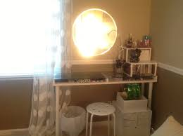Glass Makeup Vanity Table Exciting Small Glass Vanity Table Pictures Ideas House Design
