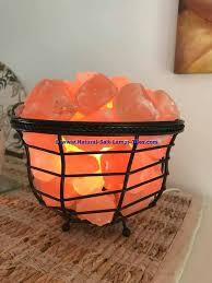 himalayan salt l basket himalayan ionic salt crystal basket l