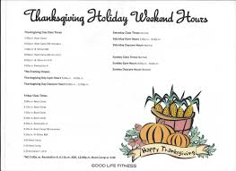 fitness thanksgiving hours