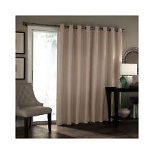 Patio Door Panel Curtains by Eclipse Bryson Thermaweave Blackout Patio Door Panel Wheat Grommet