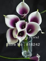 purple calla lilies purple picasso calla real touch flowers for wedding bouquets